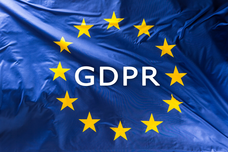 Canva - European Union flag with text GDPR -  General Data Protection Regulation